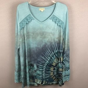 Live and let live Tie Dye top. SZ XL